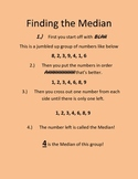 Finding the Median and the other landmarks! Common Core