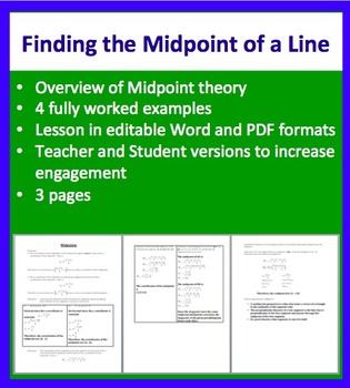 Finding the Midpoint of a Line - Geometry - Mathematics