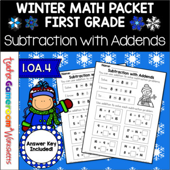 Subtraction with Addends Worksheets