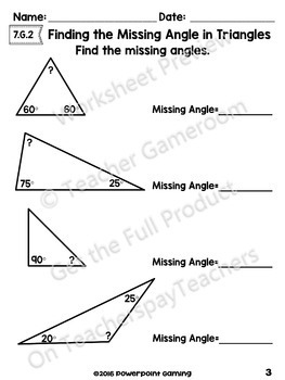 Finding the Missing Angle of a Triangle