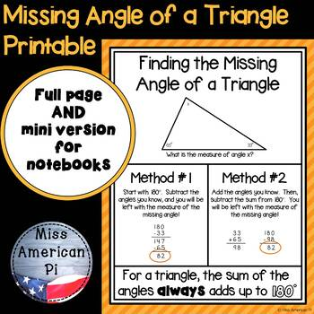 Finding the Missing Measure of a Triangle Poster
