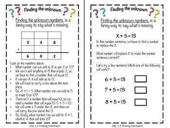 Finding the Missing Number: Learning About Unknown Numbers