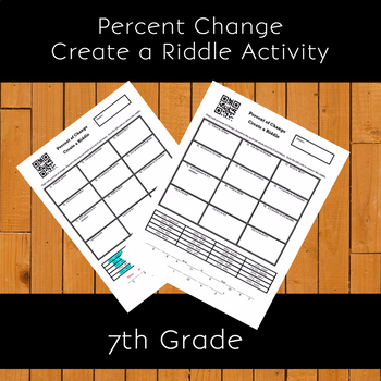 Finding the Percent Change of a Number Create a Riddle Activity