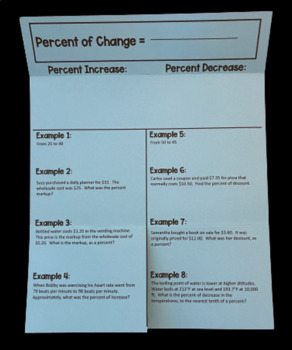Finding the Percent of Change (Foldable)