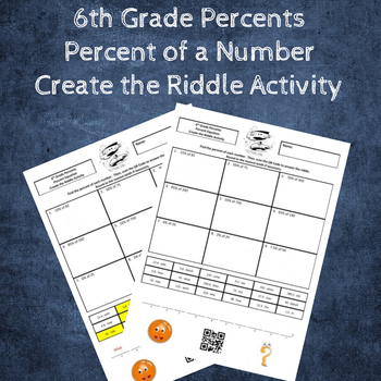 Percent of a Number (Percent Equation) Create the Riddle Activity