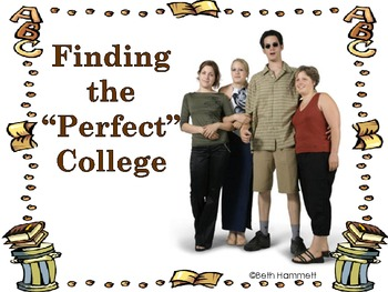 "Finding the ""Perfect"" College (CCSS College Readiness/ELA Activities)"