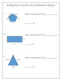 Finding the Perimeter of 2-Dimensional Shapes (3 DIFFERENTIATED VERSIONS)