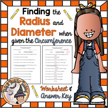 Finding the Radius and Diameter when Given the Circumference of a Circle w/Key