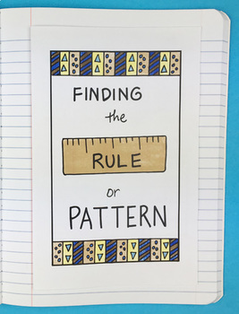 Finding the Rule or Pattern Foldable by Math Doodles