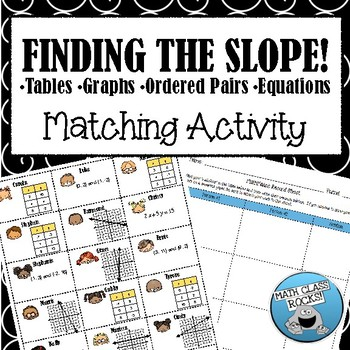 Finding the SLOPE! Cut & Paste Matching Activity!