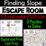 Finding the Slope Game: Escape Room Christmas Math Activity