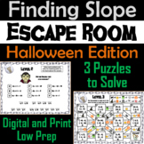 Finding the Slope Game: Escape Room Halloween Math Activity