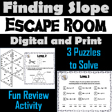 Finding Slope Activity: Algebra Escape Room Math Game