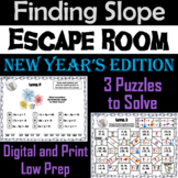Finding the Slope Game: Escape Room New Year's Math Activity