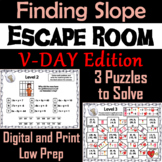Finding the Slope Game: Escape Room Valentine's Day Math Activity