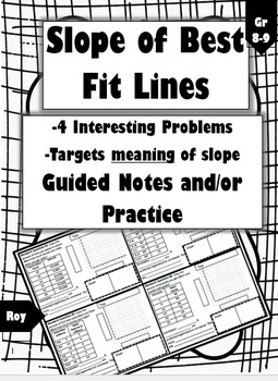 Finding the Slope of Best Fit Lines: 4 Problems