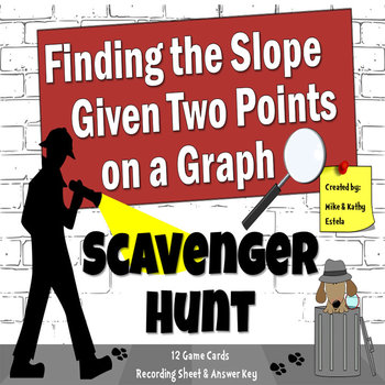 Finding the Slope of Two Points on a Graph - Scavenger Hunt {FREE}
