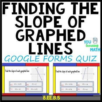Finding the Slope of a Line given 2 Points: Google Forms Quiz - 20 Problems