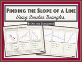 Finding the Slope of a Line using Similar Triangles.