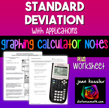 Finding the Standard Deviation with the TI 83 TI 84 Graphi