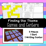 Finding the Theme Games and Centers - Theme Sort, Mazes, and Writing Center
