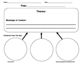 Finding the Theme Graphic Organizers
