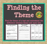 Finding the Theme and Comparing Theme to  Main Idea