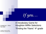 Finding the Titanic Vocabulary Game