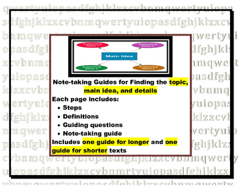 Identifying Topic, Main Idea, and Details: Strategy Practi