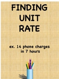 Finding the Unit Rate