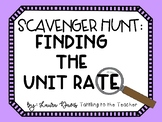 Finding the Unit Rate Scavenger Hunt
