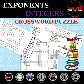 Finding the Value of Single Numerical Exponential Expressions Crossword