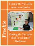 Finding The Variables In A Science Investigation Worksheet