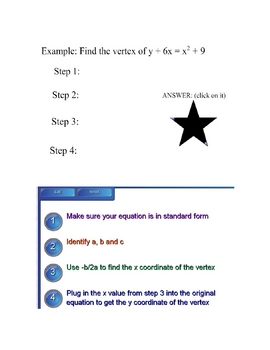 Finding the Vertex Lesson