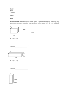 Finding the Volume of Rectangular Prisms