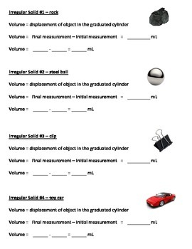 Finding the Volume of Regular & Irregular Solids