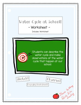 Finding the Water Cycle at School!