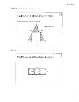 Finding the area of the shaded region