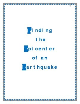 Finding the epicenter of an Earthquake