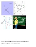 Finding the equations of tangent and normal lines to a curve