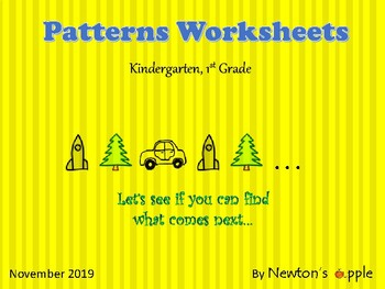 Repeating Pattern Sequences (preK, K, 1st grade)