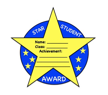 star student award template by sunshine daisies learning tpt. Black Bedroom Furniture Sets. Home Design Ideas