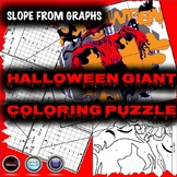 Halloween Algebra Math Activity - Finding the slope of a line