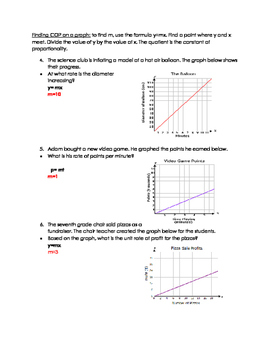 Finding unit rates with table and graphs
