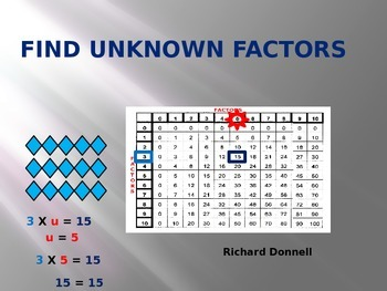 Finding unknown facts