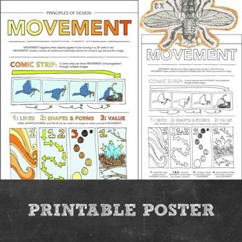 Principles of Design Worksheet Packet: 8 Instructional Handouts for Visual Art
