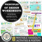 Principles of Design Worksheet Packet: 8 Instructional Han
