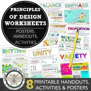 Principles of Design Worksheet Packet: 9 Instructional Han