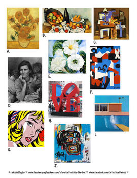 Fine Art Fun: 10 Famous Works to color, answer, write, and play!