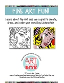 Pop Art: Looking at art and graph a Roy Lichtenstein drawing using a grid